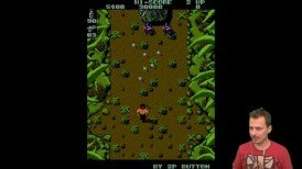 lets play,retro game gameplay.,mame,cabal gameplay,ikari warriors gameplay,karetsos reto games