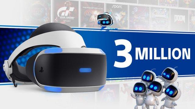 Ξεπέρασε τα 3 εκατομμύρια σε πωλήσεις το PlayStation VR