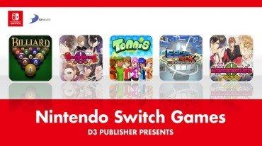 Ανακοίνωση τίτλων της D3 Publisher για το Switch