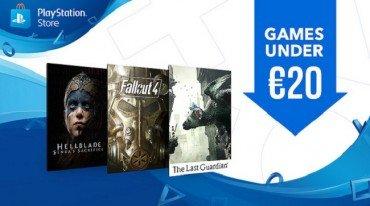 Games Under €20 και Digital Zone Sales στο PlayStation Store