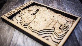 Ο χάρτης του GTA V χαραγμένος σε ξύλο (φωτογραφίες)