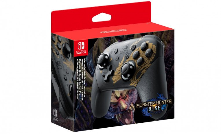 Monster Hunter Rise Nintendo Switch Pro Controller 01 764 463
