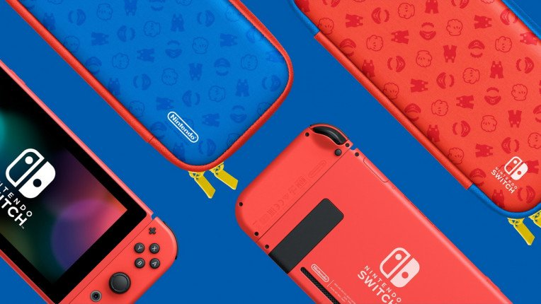 Nintendo Switch Mario Red And Blue Edition 01 764 430